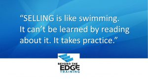 Beyond the EDGE Sales Training Quote